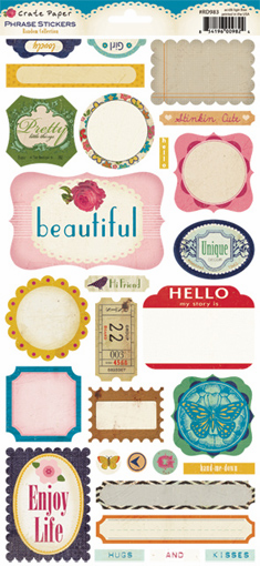 Crate Paper: Random - Phrase Cardstock Stickers