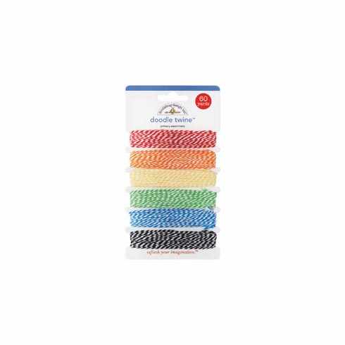 Doodlebug: Doodle Twine Assortment Pack - Primary (E)