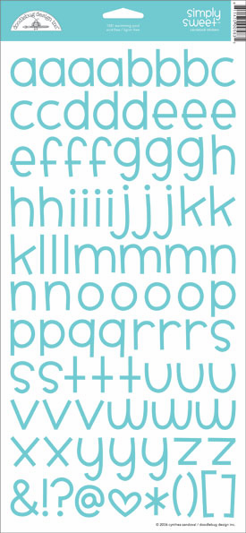 Doodlebug: Simply Sweet - Swimming Pool Cardstock Alphabet Stickers - S/O