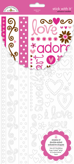 Doodlebug: Sweet Love - Stick With It Adhesive Transfer (S/O)