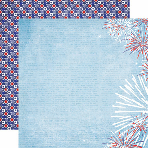 Echo Park Paper: 4th Of July - Firework - S/O