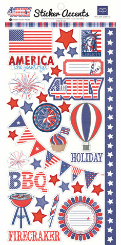 Echo Park Paper: 4th of July - Stickers