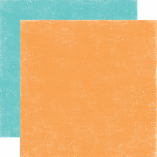 Echo Park Paper - A Perfect Summer - Distressed Cardstock Orange Teal