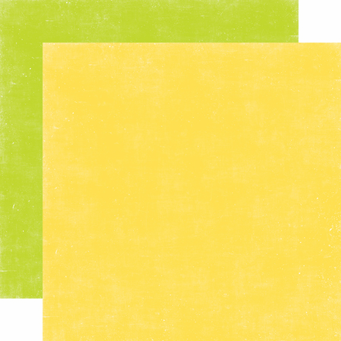 Echo Park Paper - A Perfect Summer - Distressed Cardstock Yellow Green