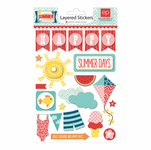 Echo Park Paper - A Perfect Summer - Layered Stickers
