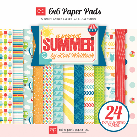 "Echo Park Paper - A Perfect Summer - Paper Pad 6""X6"" (S/O)"