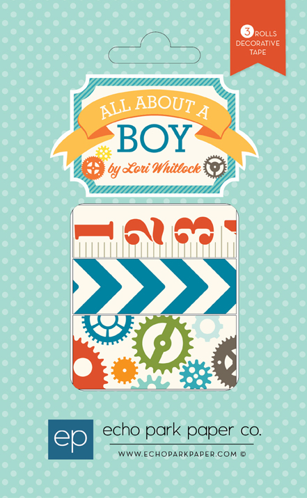 Echo Park Paper - All About A Boy - Decorative Tapes