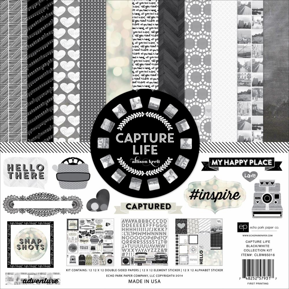 Echo Park Paper - Capture Life Black & White - Collection Kit 12x12 (S/O)