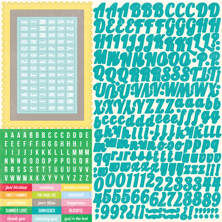 "Echo Park Paper Country Drive Alpha Stickers 12""x12"""