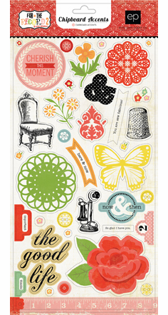 Echo Park Paper: For The Record 2 Tailored - Chipboard Accent Stickers