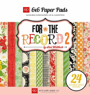 Echo Park Paper - For The Record 2 Tailored - Paper Pad 6x6 (S/O)