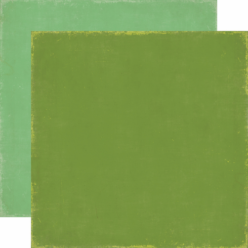 Echo Park Paper: For The Record - Cardstock Green/Green