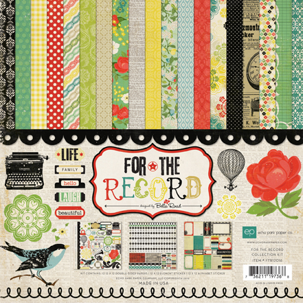Echo Park Paper: For The Record - Collection Kit 12x12 (S/O)