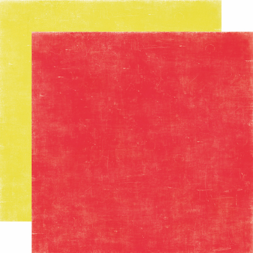 Echo Park Paper: Happy Days - Cardstock Red/Yellow