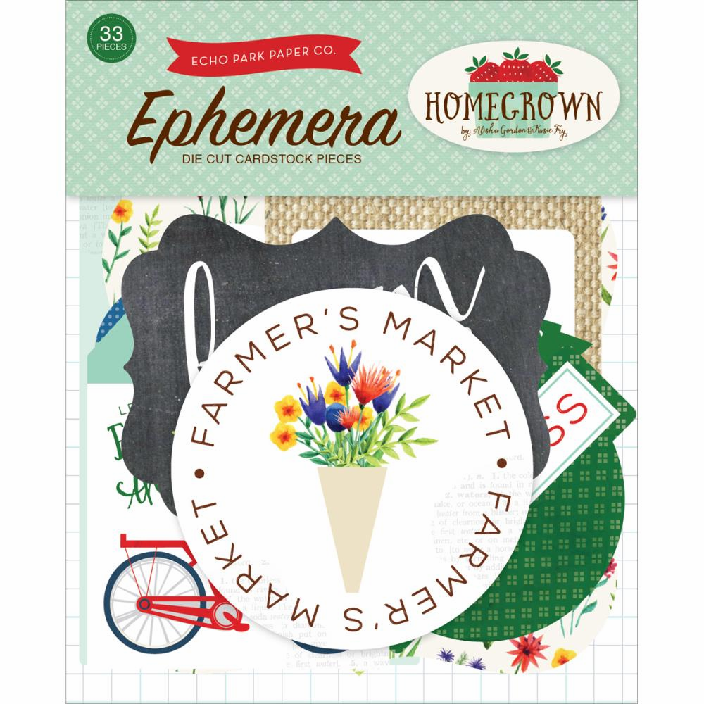 Echo Park Paper Homegrown Ephemera Cardstock Die-Cuts