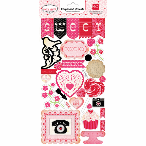 Echo Park Paper - Love Story - Chipboard Accents