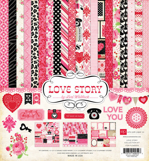 Echo Park Paper - Love Story - Collection Kit 12x12 (S/O)