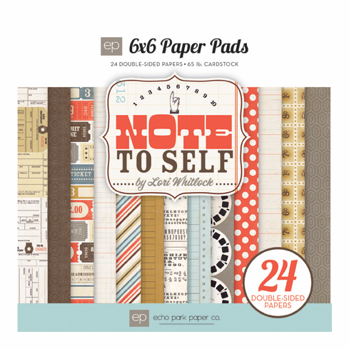 Echo Park Paper - Note to Self - Paper Pad 6x6 (S/O)