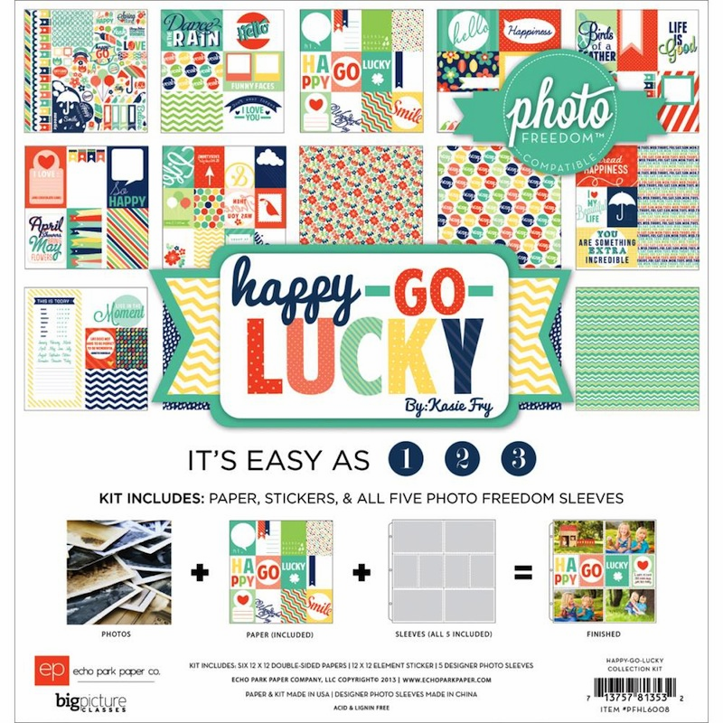 "Echo Park Paper - Photo Freedom - Happy Go Lucky Collection Kit 12""X12"" - S/O"
