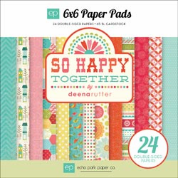Echo Park Paper - So Happy Together - Paper Pad 6x6 - S/O