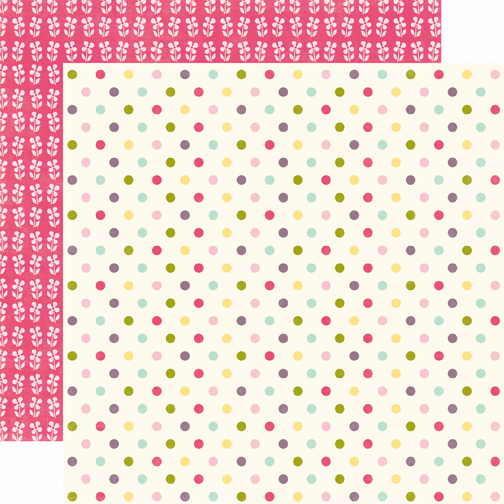 Echo Park Paper: Springtime - Colored Dots - S/O