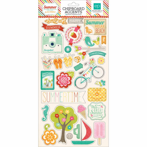 Echo Park Paper - Summer Bliss - Chipboard Accents