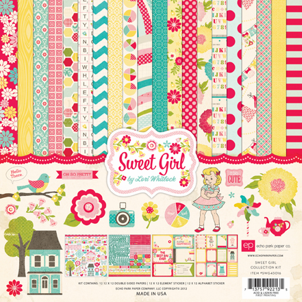 Echo Park Paper - Sweet Girl - Collection Kit 12x12 (S/O)