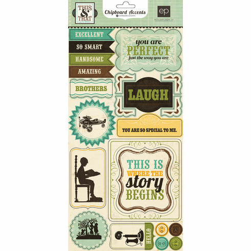 Echo Park Paper: This & That Charming - Chipboard Accent Stickers
