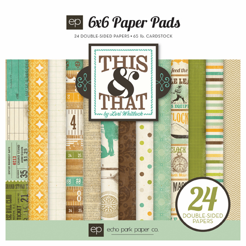 Echo Park Paper - This & That Charming - Paper Pad 6x6 - S/O