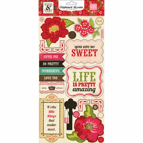 Echo Park Paper: This & That Graceful - Chipboard Accent Stickers