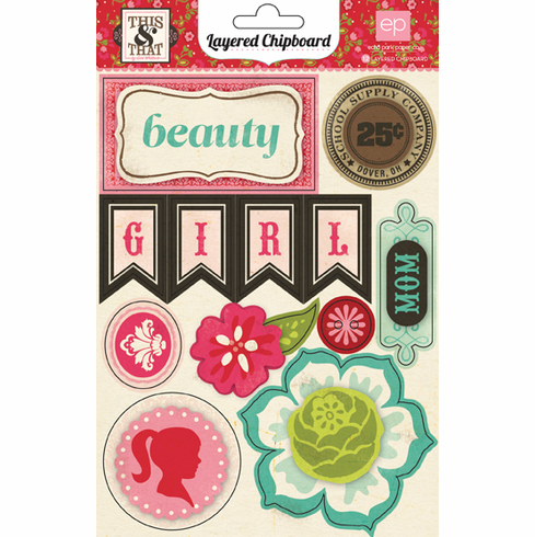 Echo Park Paper: This & That Graceful - Layered Chipboard Stickers