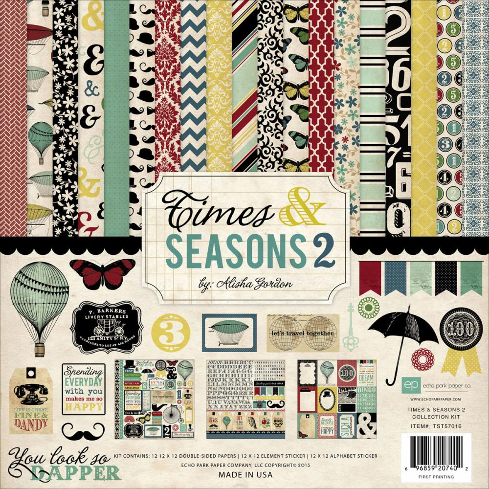 "Echo Park Paper - Times & Seasons 2 - Collection Kit 12""X12"" - S/O"