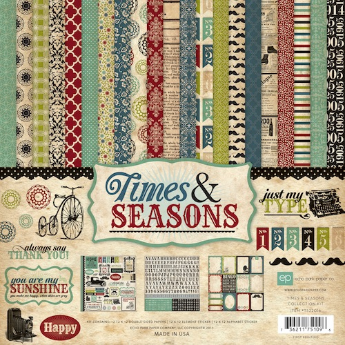 Echo Park Paper: Times & Seasons - Collection Kit 12x12 (S/O)