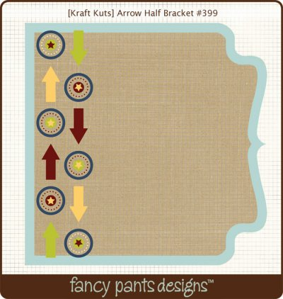 Fancy Pants - Kraft Kuts - That Boy Arrow Half Bracket