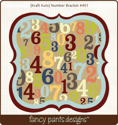 Fancy Pants - Kraft Kuts - That Boy Number Bracket