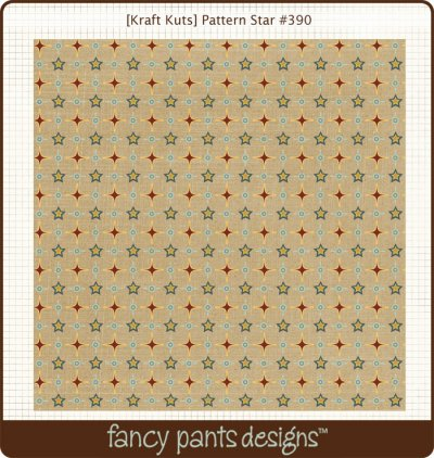 Fancy Pants: Kraft Kuts - That Boy Pattern Star