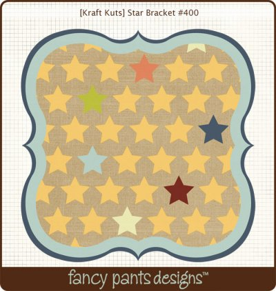 Fancy Pants - Kraft Kuts - That Boy Star Bracket