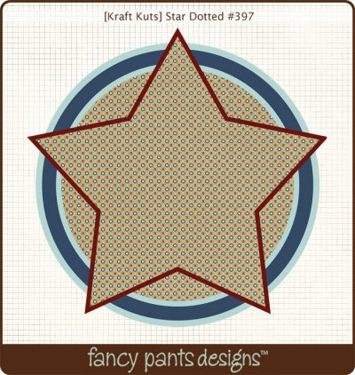 Fancy Pants - Kraft Kuts - That Boy Star Dotted