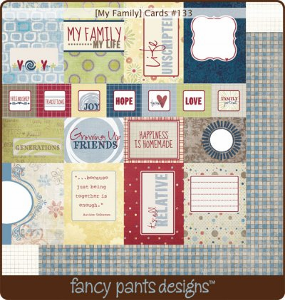 Fancy Pants: My Family - Cards
