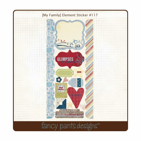 Fancy Pants My Family Element Sticker