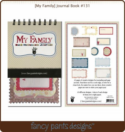 Fancy Pants: My Family - Journal Book
