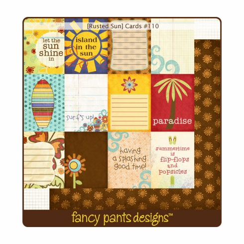 Fancy Pants Designs Rusted Sun Cards (S/O)