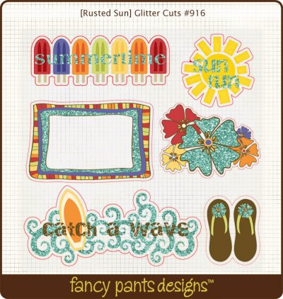 Fancy Pants: Rusted Sun - Glitter Cuts