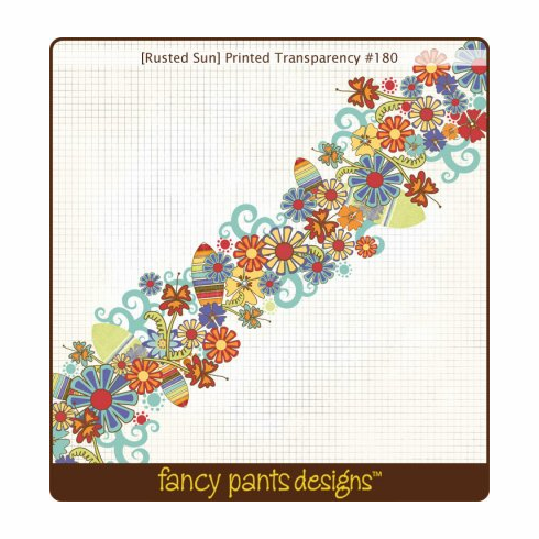 Fancy Pants: Rusted Sun - Printed Transparency