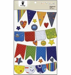 Fancy Pants: To The Moon - Chipboard Banners - S/O
