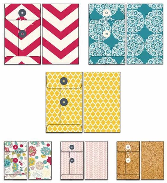 Fancy Pants - Wonderful Day - Patterned Envelopes 6/Pkg