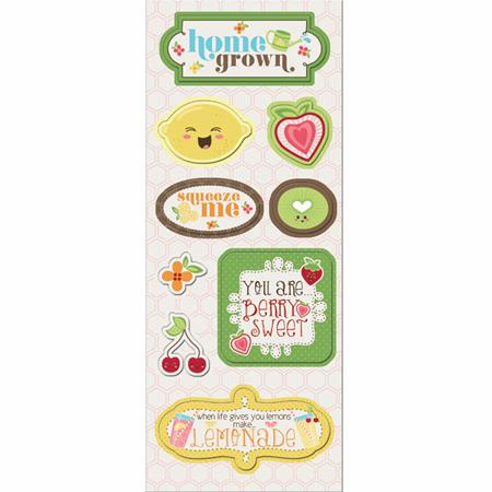 Imaginisce: Berrylicious - Home Grown Chipboard Stickers