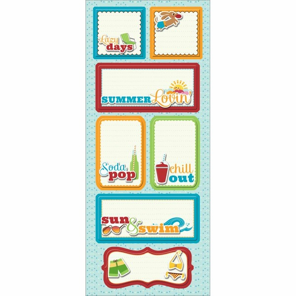 Imaginisce - Endless Summer - Sticker Stackers - Lazy Days
