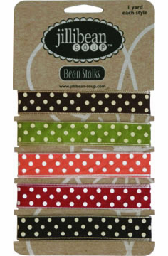 Jillibean Soup: 5 Color Polka Dot -  Ribbon 5/yards