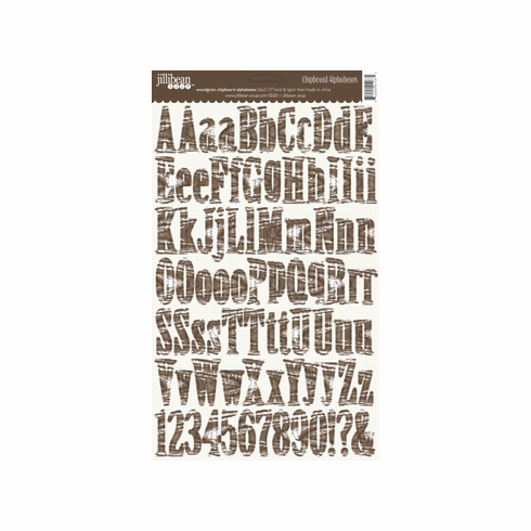 Jillibean Soup: Alphabean Chipboard Stickers - Woodgrain